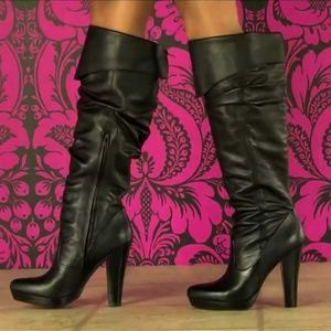 Jessica Simpson Tulip Black Leather Boots